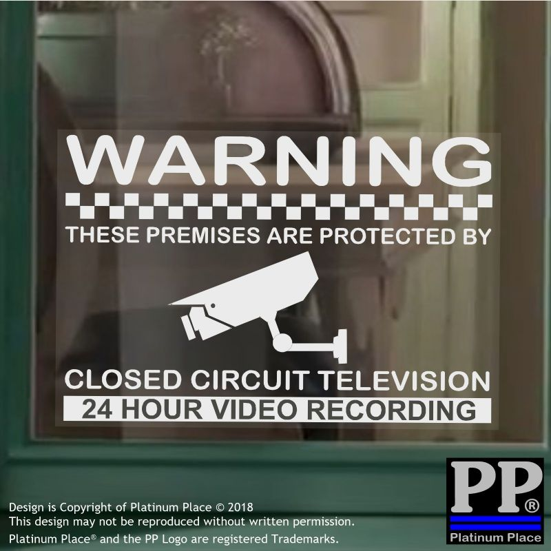1 x Premises are Protected by CCTV 24hr Recording Camera